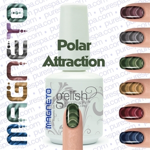 Gelish Magneto Collection - Polar Attraction (Green) Gelish + Matching Lacquer Kit