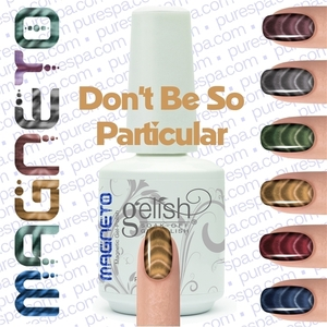 Gelish Magneto Collection - Don't Be So Particular (Gold) Gelish + Matching Lacquer Kit