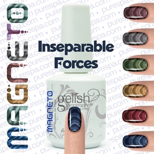 Gelish Magneto Collection - Inseparable Forces (Blue) Gelish + Matching Lacquer Kit