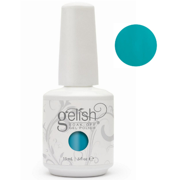 Gelish Color Coat: Garden Teal Party 0.5oz. - 15mL. - Gelish Soak Off Gel Nail Polish by Nail Harmony (#01466)