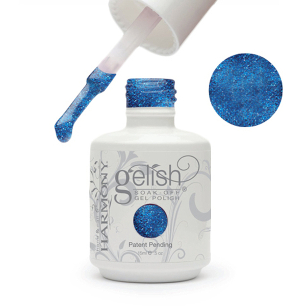 Gelish Color Coat: Holiday Party Blues 0.5oz. - 15mL. - Gelish Soak Off Gel Nail Polish by Nail Harmony (#01546)