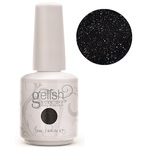 Gelish Color Coat: Black Flip 0.5oz. - 15mL. - Gelish Soak Off Gel Nail Polish by Nail Harmony (#01582)