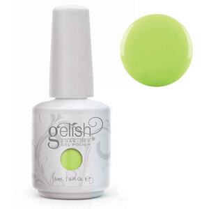 Gelish Color Coat: Lime All The Time 0.5oz. - 15mL. - Gelish Soak Off Gel Nail Polish by Nail Harmony (#01623)