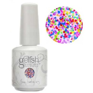 Gelish Color Coat: Lots Of Dots 0.5oz. - 15mL. - Gelish Soak Off Gel Nail Polish by Nail Harmony (#01859)