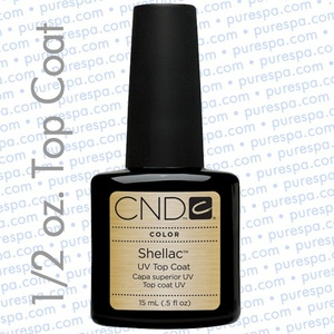 CND Shellac Top Coat / 0.50 oz. - 15 mL - The 14 Day Manicure is Here!