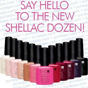 Pre-Order: CND Shellac New 12 Color Kit 0.25 oz. - 7.3 mL - The 14 Day Manicure is Here! (693)