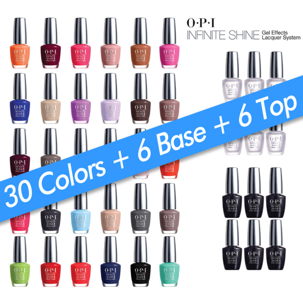 OPI Infinite Shine - Air Dry 10 Day Nail Polish - 42 Piece Starter ...