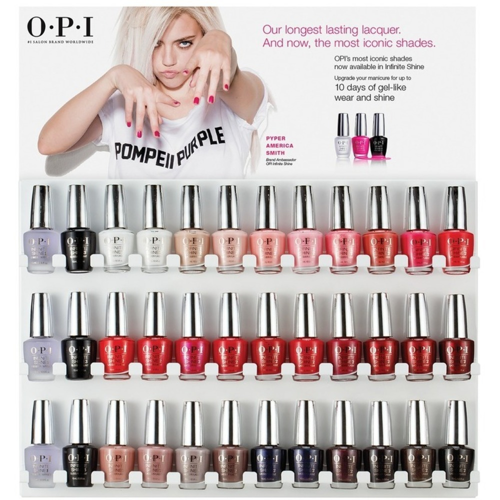 OPI Infinite Shine - Air Dry 10 Day Nail Polish - 36 Piece Wall ...