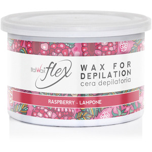 ItalWax Flex Wax - Raspberry - Soft Strip Wax from Italy 14 oz. Can (FLEX-RASPBERRY-14OZ.CAN X 1)