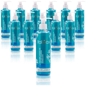 ItalWax After-Wax Treatment - Cooling Gel with Menthol from Italy 1 Case = (12) 8.45 oz. - 250 mL. Bottles (COOLING-GEL-MENTHOL-8.45OZ X 12)
