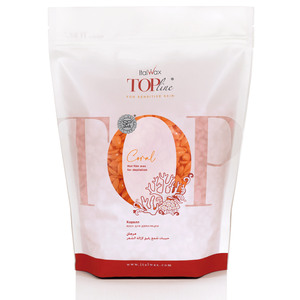 ItalWax Top Formula Synthetic Film Wax - Coral - Hard Stripless Wax Beads from Italy 1.65 lb. Bag (FILM-CORAL-HARD-1.65LB.BAG X 1)