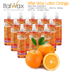 ItalWax After-Wax Treatment - After-Wax Lotion Orange from Italy 8.45 oz. - 250 mL. Each Case of 12 (AFTER-WAX-LOTION-ORANGE-250ML X 12)