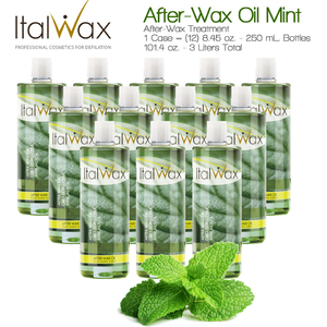 ItalWax After-Wax Treatment - After-Wax Oil Mint from Italy 8.45 oz. - 250 mL. Each Case of 12 (AFTER-WAX-OIL-MINT-250ML X 12)
