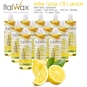 ItalWax After-Wax Treatment - After-Wax Oil Lemon from Italy 8.45 oz. - 250 mL. Each Case of 12 (AFTER-WAX-OIL-LEMON-250ML X 12)