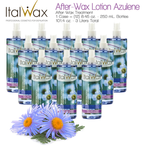 ItalWax After-Wax Treatment - After-Wax Lotion Azulene from Italy 8.45 oz. - 250 mL. Each Case of 12 (AFTER-WAX-LOTION-AZULENE-250ML X 12)