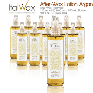 ItalWax After-Wax Treatment - After-Wax Lotion Argan from Italy 8.45 oz. - 250 mL. Each Case of 12 (AFTER-WAX-LOTION-ARGAN-250ML X 12)