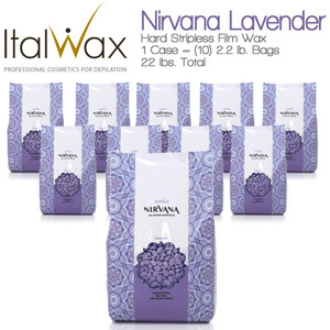 ItalWax Film Wax - Nirvana Premium SPA Lavender - Hard Stripless Wax Beads from Italy 1 Case = (10) 2.2 lb. Bags = 22 lbs. Total (NIRVANA-LAVENDER-HARD-2.2 X 10)
