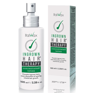 ItalWax Ingrown Hairs THERAPY - Concentrated Lotion | Prevents Ingrown Hairs Eases Discomfort of Waxing Retards Hair Growth 3.38 oz. - 100 mL. (INGROWN-CONC-LOTION-100-ML X 1)