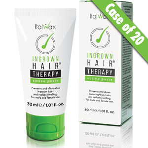 ItalWax Ingrown Hairs THERAPY - Active Paste | Prevents and Eliminates Ingrown Hairs and Reduces Swelling 1.01 oz. - 30 mL. X 20 Units = 1 Case (INGROWN-ACTIVEPASTE-30-ML X 20)