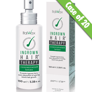 ItalWax Ingrown Hairs THERAPY - Concentrated Lotion | Prevents Ingrown Hairs Eases Discomfort of Waxing Retards Hair Growth 3.38 oz. - 100 mL. X 25 Units = 1 Case (INGROWN-CONCLOTION-100-ML X 25)