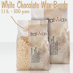 ItalWax Film Wax - White Chocolate - Hard Stripless Wax Beads from Italy 1.1 lbs. - 500 Gram Bag (FILM-WHITE-CHOCOLATE-HARD-1.1 LB.BAG X 1)