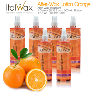 ItalWax After-Wax Treatment - After-Wax Lotion Orange from Italy 16.9 oz. - 500 mL. Each Case of 6 (AW-LOTION-ORANGE-500ML X 6)