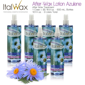 ItalWax After-Wax Treatment - After-Wax Lotion Azulene from Italy 16.9 oz. - 500 mL. Each Case of 6 (AW-LOTION-AZULENE-500ML X 6)