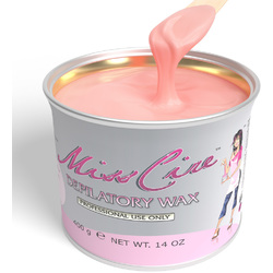 Miss Cire Pink - Soft Strip Wax 14 oz. Can X 12 Cans = 1 Case (620100 X 12)