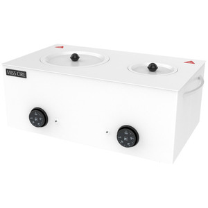 2-in-1 Professional Dual Wax Warmer - Hard & Soft Wax Warmer Holds 5 Lbs. of Hard Wax and 14 oz. of Soft Wax ()
