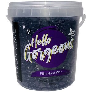 Miss Cire Purple Beads - Hello Gorgeous - Polymer Based Stripless Film Hard Wax 1.85 lb. Bucket X 4 Buckets = 7.4 Lbs. Case (PURPLE-HELLOGORGEOUS-1.85LB X 4)