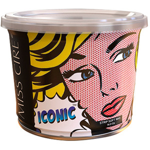 Miss Cire Iconic Blue - Soft Strip Wax - Ideal for Coarse Hair 14 oz. Can X 12 Cans = 1 Case (ICONIC-BLUE-14OZ X 12)
