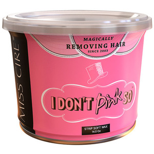 Miss Cire I Don't Pink So - Pink Soft Strip Wax 14 oz. Can X 12 Cans = 1 Case (I-DON'T-PINK-SO-14OZ X 12)