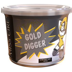 Miss Cire Gold Digger - Soft Strip Wax 14 oz. Can X 12 Cans = 1 Case (GOLD-DIGGER-14OZ X 12)