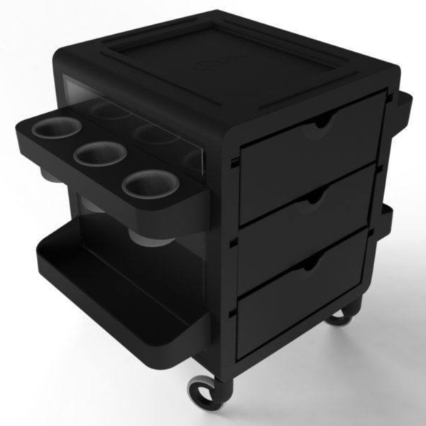 Publik Pedi Trolley - Multiple Color Combinations 3 Drawers + 8 Appliance-Supply Holders ()