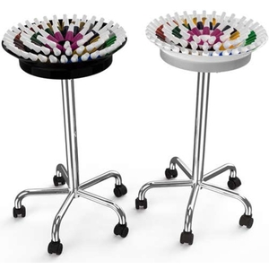 360 Nail Polish Trolley - Multiple Color Combinations Holds Over 75 Polishes ()