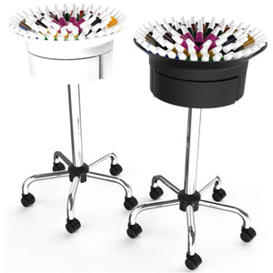 360 Nail Polish Trolley Plus - Multiple Color Combinations Has 3 Drawers + Holds Over 75 Polishes ()