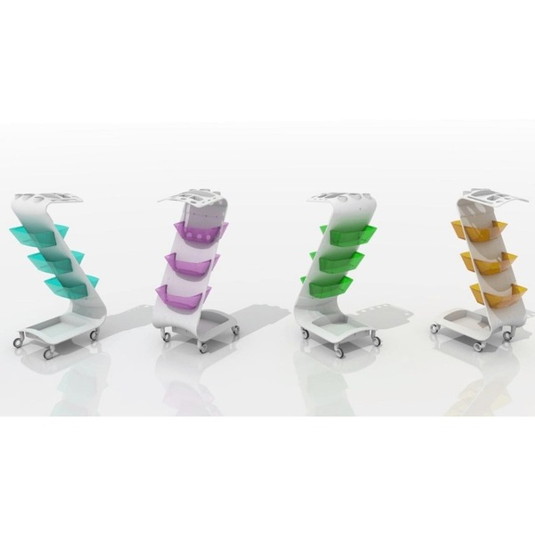 Zeta Hair Trolley - Multiple Color Combinations Has 6 Drawers ()