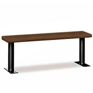 "Wood Locker Bench - 60"" Wide - Dark Finish (77785DRK)"