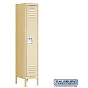"Single Tier Standard Locker - 1 Locker Wide - 5' High X 12"" Deep"