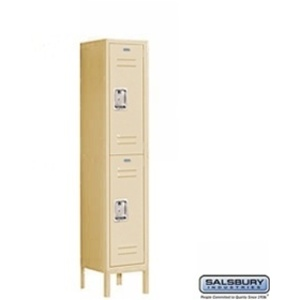 "Double Tier Standard Locker - 1 Locker Wide - 5' High X 15"" Deep"