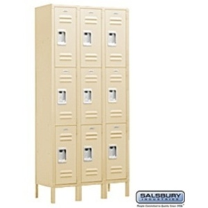 "Triple Tier Standard Locker - 3 Lockers Wide - 6' High X 15"" Deep"