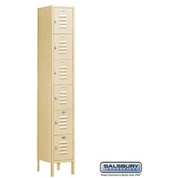 "Box Style Standard Locker - Six Tier - 1 Locker Wide - 6' High X 18"" Deep"