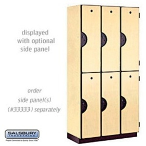 "Double Tier Designer Locker - 3 Lockers Wide - 6' High X 18"" Deep"
