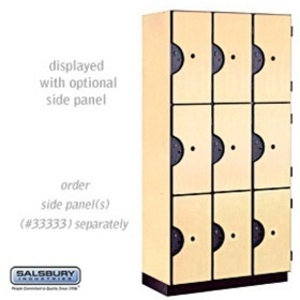 "Triple Tier Designer Locker - 3 Lockers Wide - 6' High X 18"" Deep"
