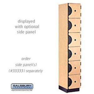 "Six Tier Box Style Designer Locker - 1 Locker Wide - 6' High X 18"" Deep"