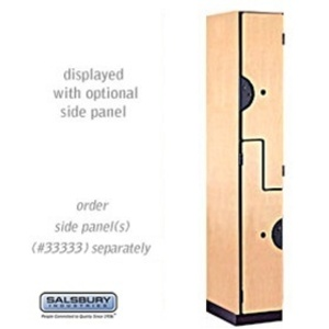 "Double Tier ""S"" Style Designer Locker - 1 Locker Wide - 6' High X 18"" Deep"