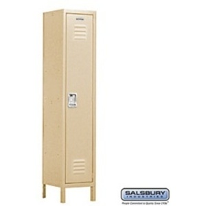 "Extra Wide Standard Locker - Single Tier - 1 Locker Wide - 6' High - 18"" Deep"