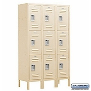 "Extra Wide Standard Locker - Triple Tier - 3 Lockers Wide - 6' High - 15"" Deep"