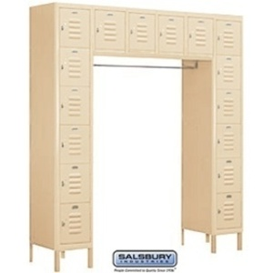 "Box Style Bridge Locker - Six Tier - 16 Box - 18"" Deep"