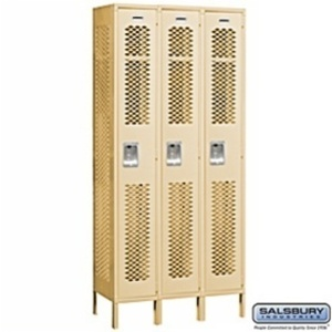 "Vented Locker - Single Tier - 3 Lockers Wide - 6' High - 12"" Deep"